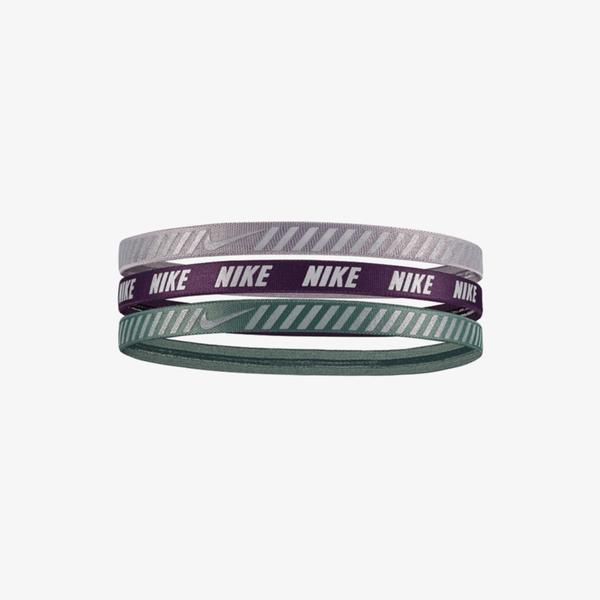 Nike Printed Hazard Stripe Assorted 3'lü Atmosphere Unisex Gri Saç Bandı