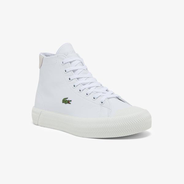 Lacoste Gripshot Mid Kadın Deri Beyaz Spor Ayakkabı