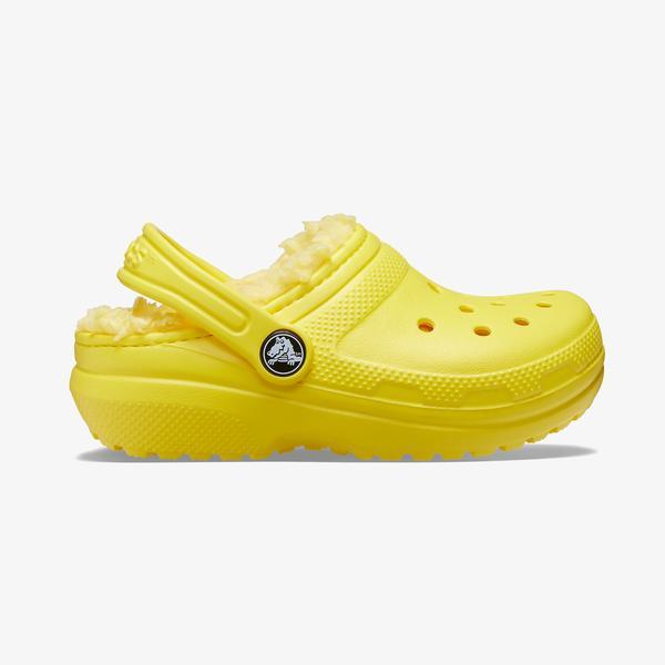 Cros Classic Lined Clog Çocuk Sarı Terlik