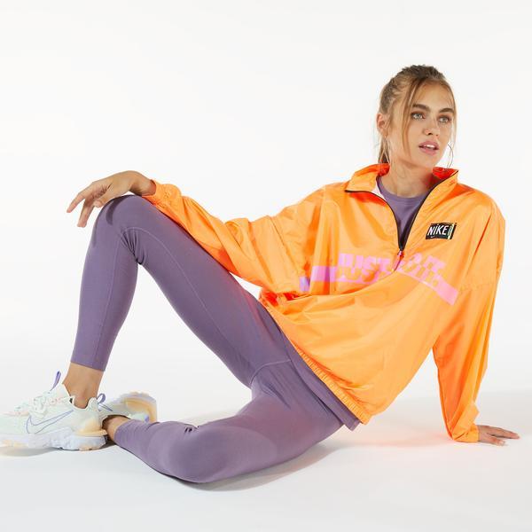 Nike Woven Pullover Wash Kadın Turuncu Kapüşonlu Ceket