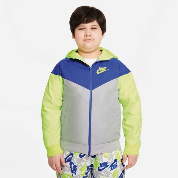 Nike Sportswear Çocuk Mavi/Gri/Yeşil Kapüşonlu Yağmurluk