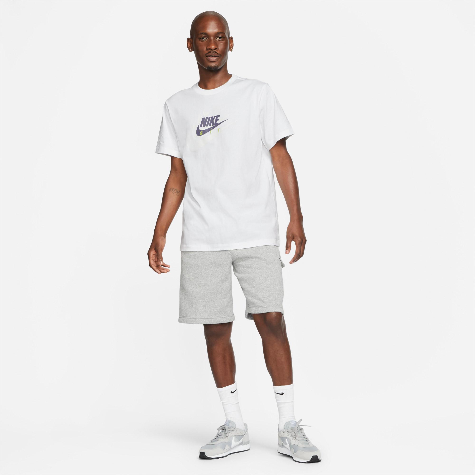 Nike Sportswear Multibrand Hbr Erkek Beyaz T-Shirt