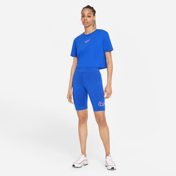 Nike Sportswear Essential Prnt Kadın Mavi Tayt
