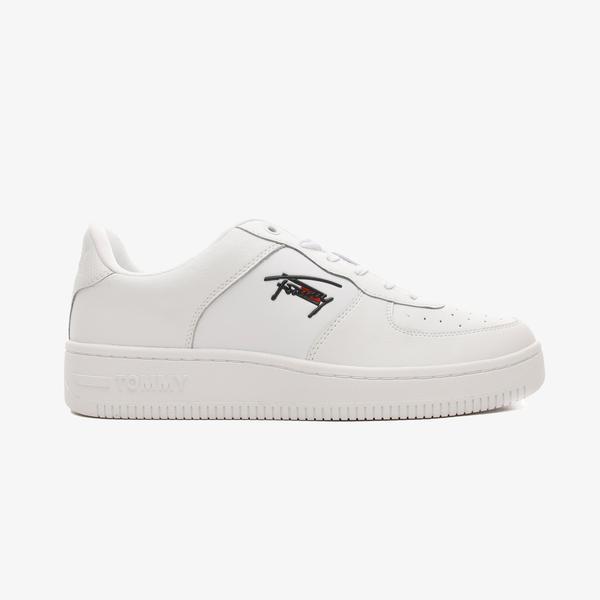 Tommy Hilfiger Basket Cupsole Erkek Beyaz Spor Ayakkabı