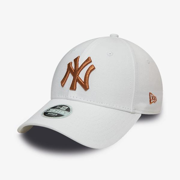 New Era Wmns Metallıc 9Forty Logo Unisex Beyaz Şapka