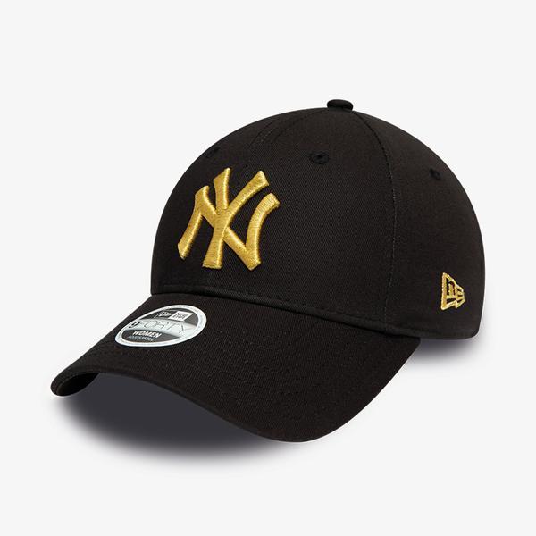 New Era Wmns Metallıc 9Forty Logo Unisex Siyah Şapka