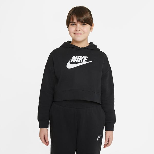 Nike Sportswear Club Ft Crop Hbr Çocuk Siyah Sweatshirt