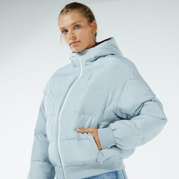 Skechers W Puffer Flexi Kadın Mavi Ceket