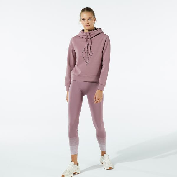 Skechers W Big Logo Hoodie Kadın Pembe Sweatshirt