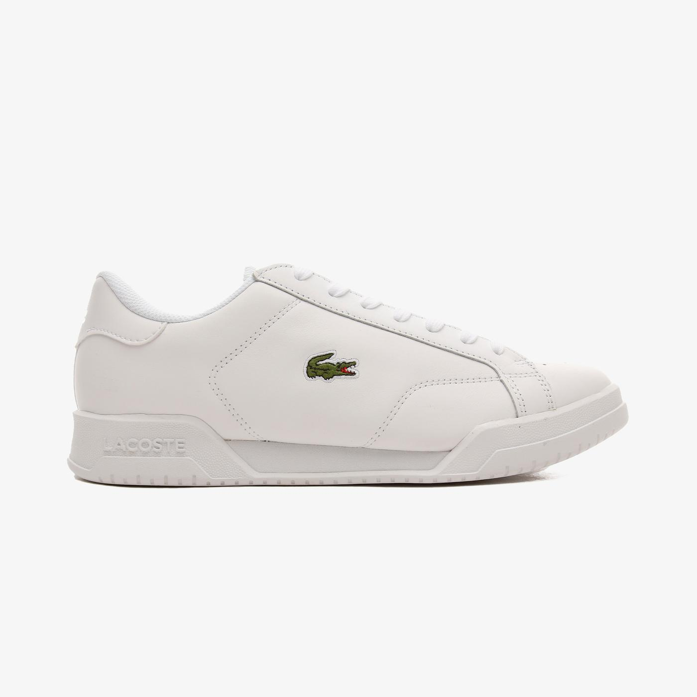 Lacoste Twin Serve Erkek Deri Beyaz - Beyaz Spor Ayakkabı