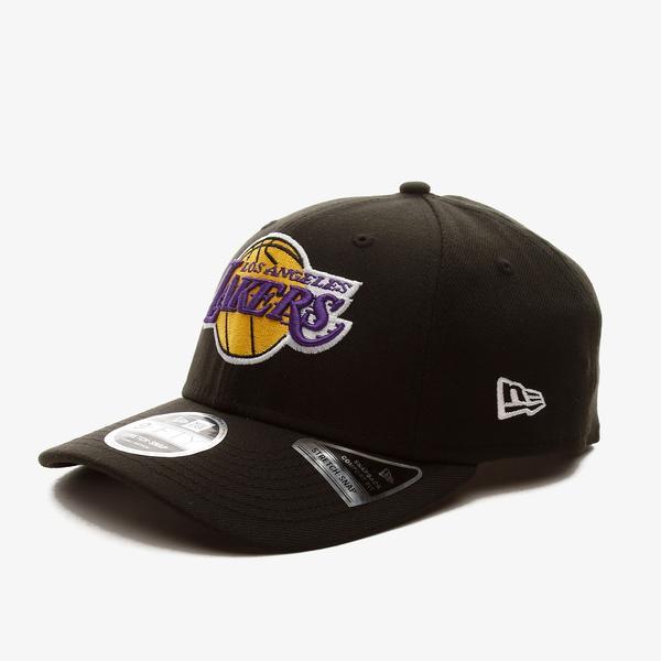 New Era Lakers Stretch Cap Black 9Fifty Unisex Siyah Şapka