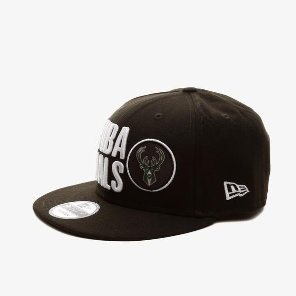 New Era Mılwaukee Bucks Nba Finals On-Court 9Fifty Snapback Unisex Siyah Şapka