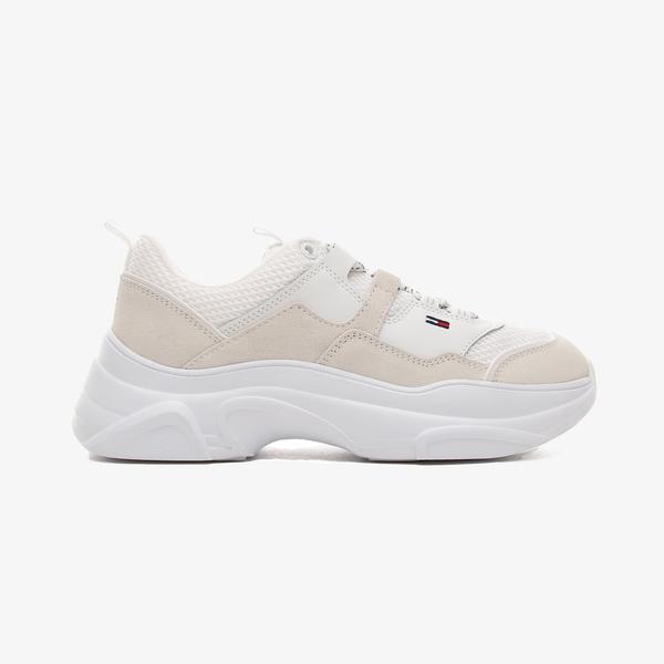 Tommy Hilfiger Jeans Lightweight Shoe Kadın Beyaz Spor Ayakkabı
