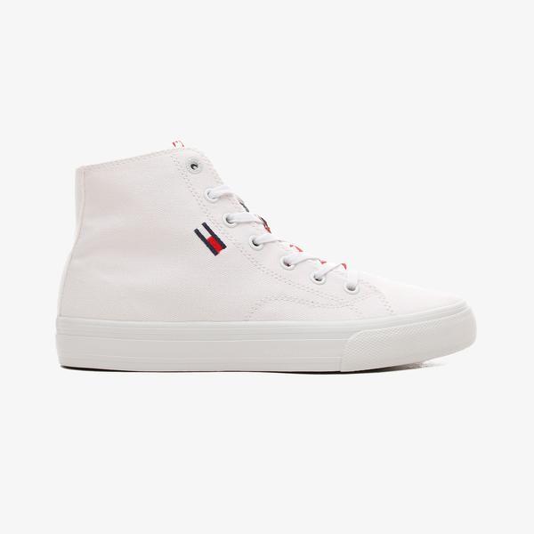 Tommy Hilfiger Jeans Mid Cut Kadın Beyaz Spor Ayakkabı