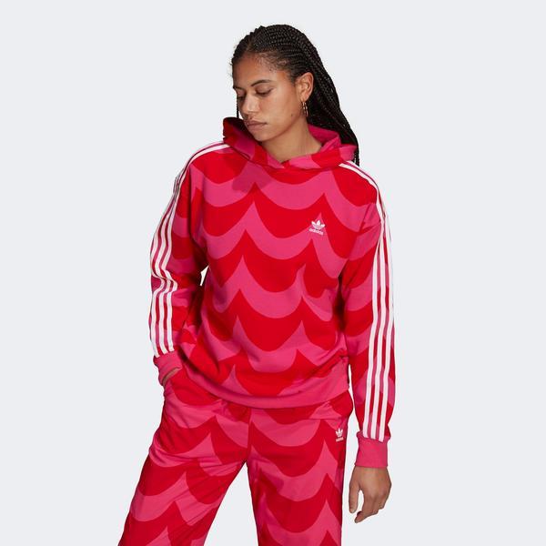 adidas Marimekko Kadın Kırmızı Sweatshirt