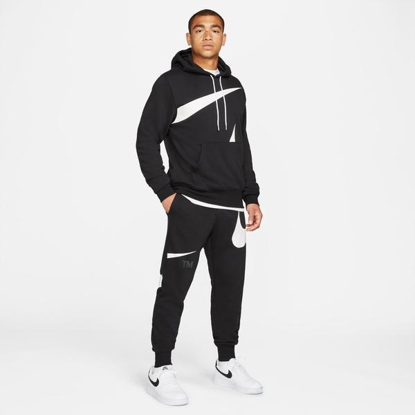 Nike Swoosh Semi-Brushed Back Erkek Siyah Eşofman Altı