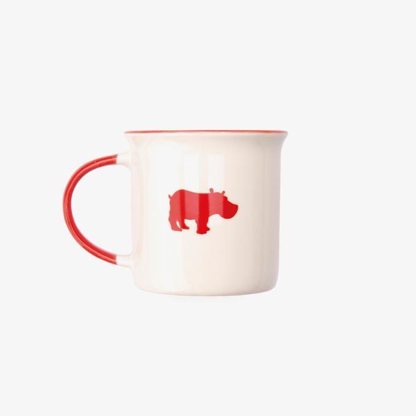 Kiss The Hippo Ceramic Mug Beyaz Kupa