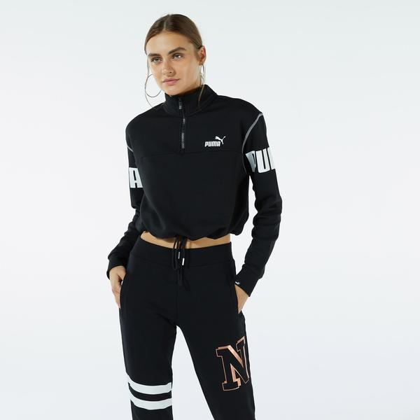 Puma Power Kadın Siyah Sweatshirt