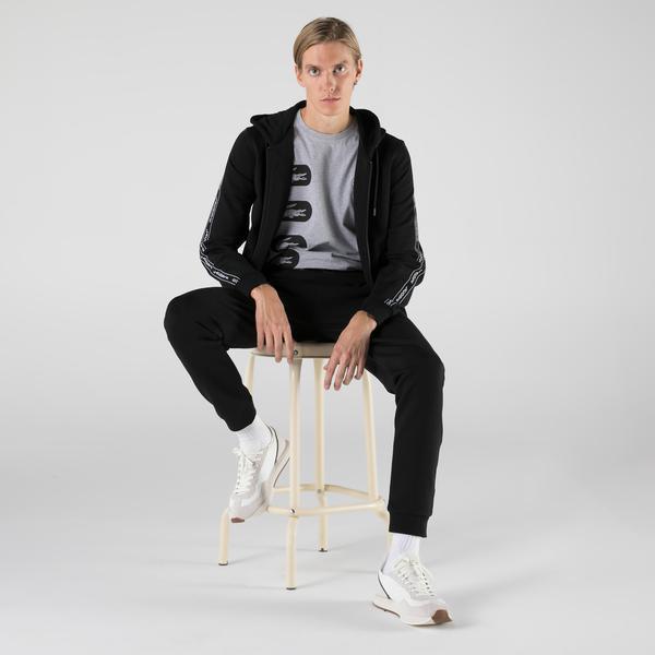 Lacoste Erkek Slim Fit Fermuarlı Siyah Sweatshirt