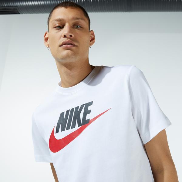 Nike Sportswear Icon Futura Erkek Beyaz T-Shirt